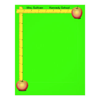 Apples and Rulers Teachers Paper (Cheery Green)