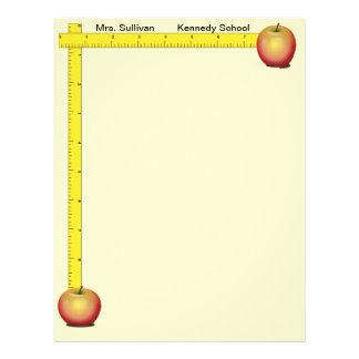 Apples and Rulers Teachers Paper (cream)