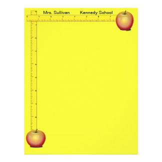 Apples and Rulers Teachers Paper (Sunshine Yellow)