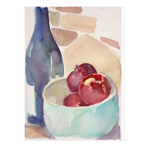Apples and Wine Postcard