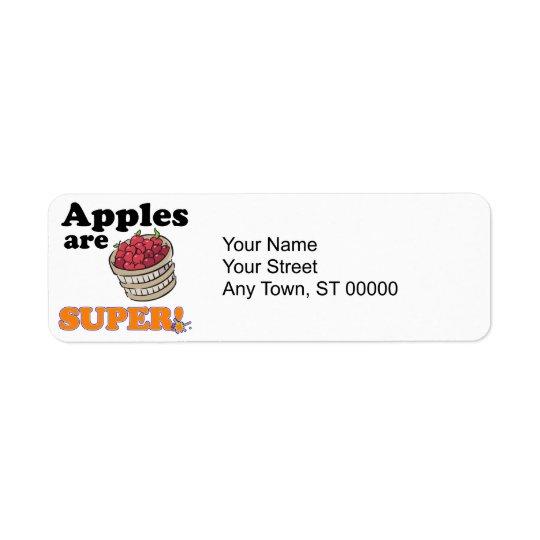 apples are super label