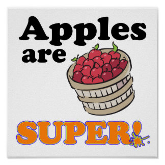 apples are super poster