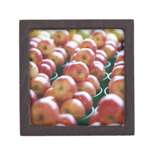 Apples at a market stall jewelry box