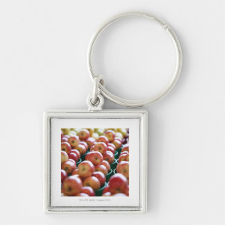 Apples at a market stall keychain