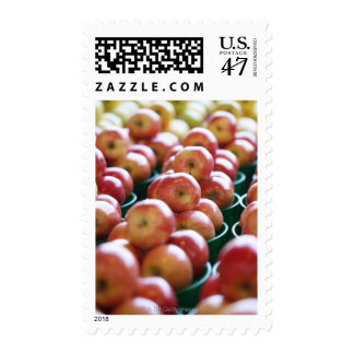 Apples at a market stall stamp
