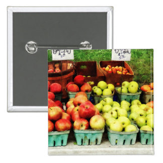 Apples at Farmer's Market Pinback Buttons