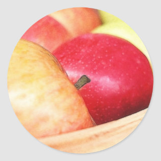 Apples At The Farmers Market Classic Round Sticker