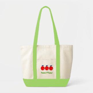 apples impulse tote bag