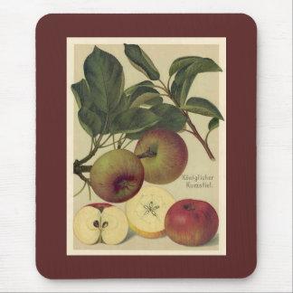 Apples Botanical Vintage German Illustration Mouse Pad
