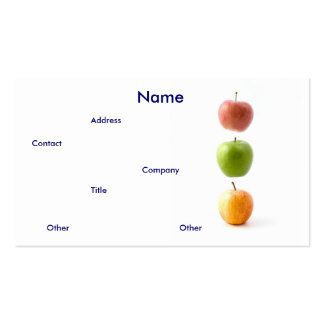 Apples Business Card Business Card Template