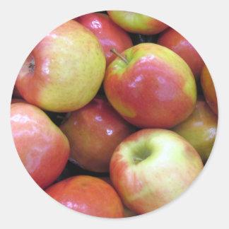 Apples Classic Round Sticker
