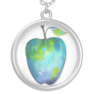 Apples For A Cure - Blue Silver Plated Necklace