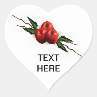 Apples Heart Sticker