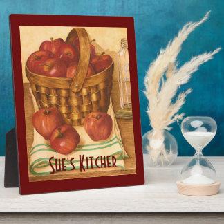 Apples in a Basket - Kitchen Art Plaque