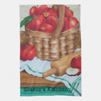 Apple's In a Basket - Kitchen Towel