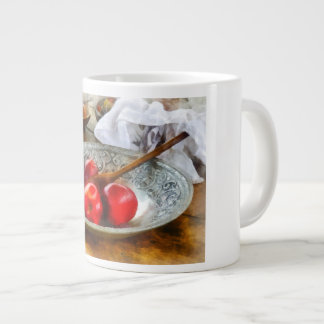 Apples in a Silver Bowl Giant Coffee Mug