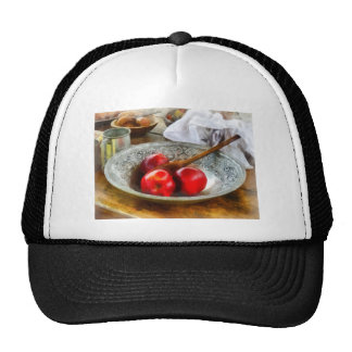 Apples in a Silver Bowl Mesh Hats