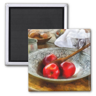 Apples in a Silver Bowl Refrigerator Magnets