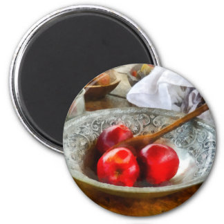 Apples in a Silver Bowl Refrigerator Magnet
