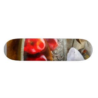 Apples in a Silver Bowl Skate Decks