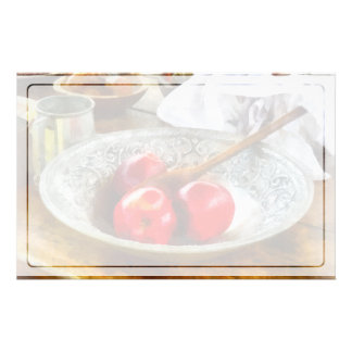 Apples in a Silver Bowl Stationery