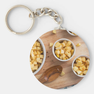 Apples in Baking Dishes Keychain