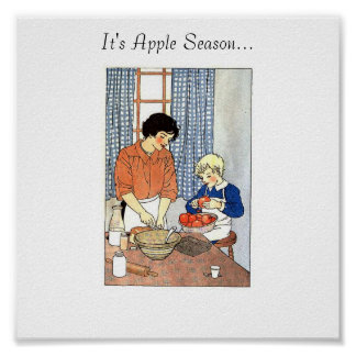 Apples in the Kitchen from Grandmas Graphics, I... Poster