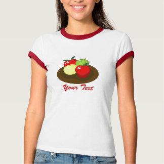 Apples Ladies Ringer T-shirt