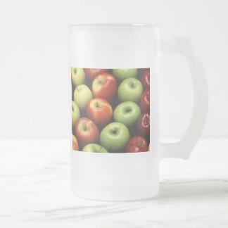 Apples 16 Oz Frosted Glass Beer Mug