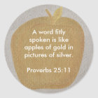 Apples of gold in pictures of silver, stickers