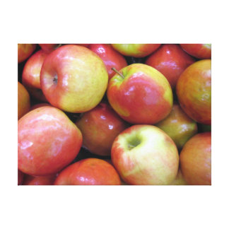 Apples on Canvas Stretched Canvas Print