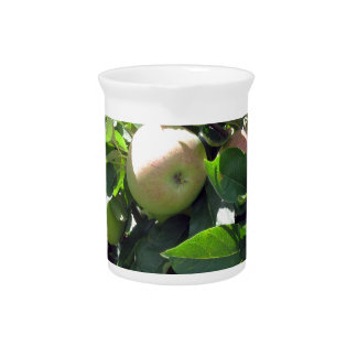Apples on tree branches drink pitchers