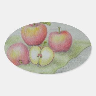 apples oval sticker