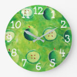 Apples Painting Large Clock