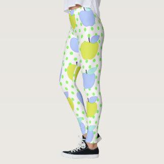 Apples-Pastel_Blue-Golden-Lime(c)_XS-XL_Leggings_ Leggings