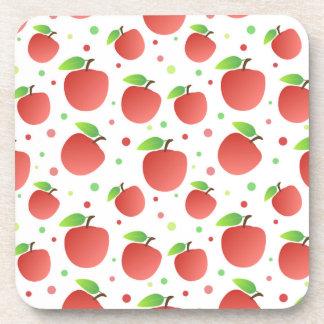 Apples pattern beverage coaster