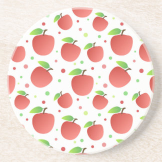 Apples pattern drink coaster