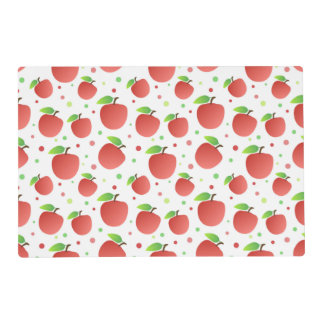 Apples pattern placemat