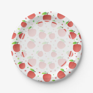 Apples pattern 7 inch paper plate