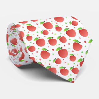 Apples pattern tie
