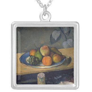 Apples, Pears and Grapes, c.1879 Silver Plated Necklace