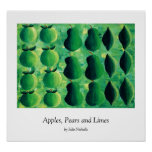 Apples, Pears and Limes Print Poster