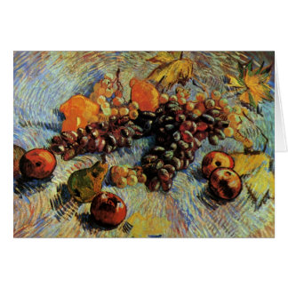 Apples, Pears, Lemons and Grapes- Vincent van Gogh Card