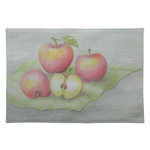 apples place mat