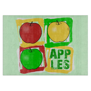 Apples Pop art fruit Cutting Board