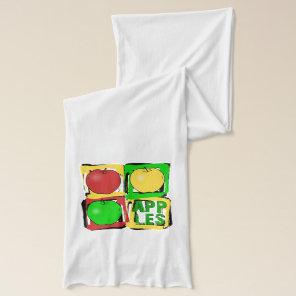 Apples Pop art fruit Scarf