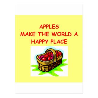 apples postcard