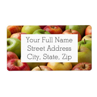 Apples - Ripe & Colorful Label