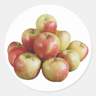 Apples Round Sticker