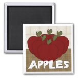 Apples Series 1 Square Magnet